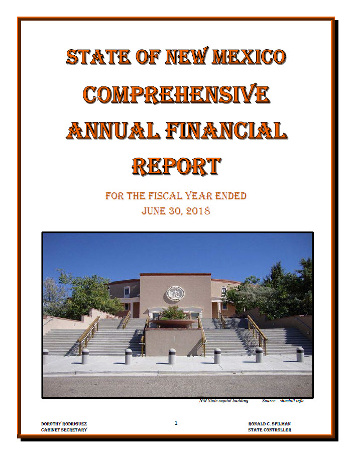 State Of NM Comprehensive Annual Financial Report