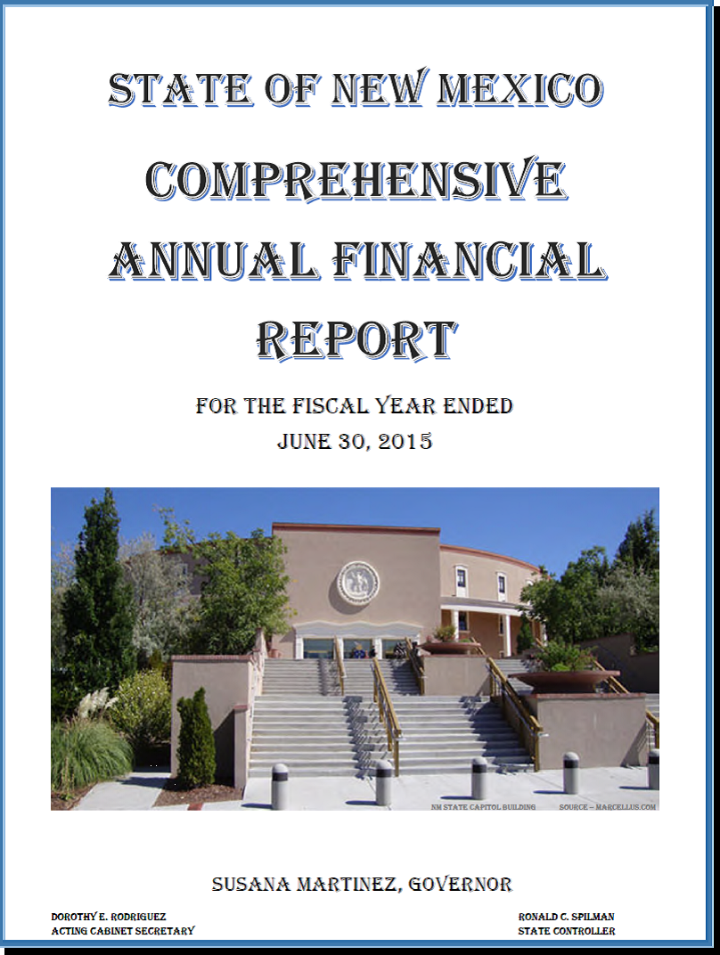 2015 CAFR Cover